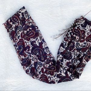 (forever 21) paisley print bell bottom pants